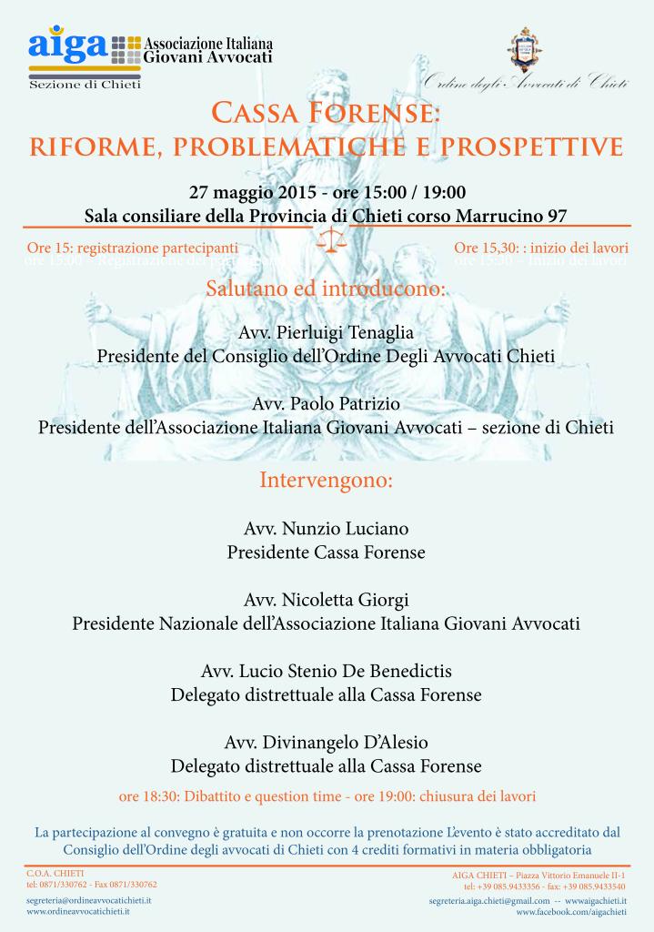 2015_05_27_Cassa Forense riforme problematiche e prospettive